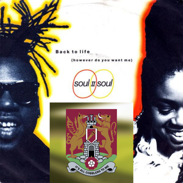Soul II Soul's album artwork for their song Back To Life with the Cobblers To Me podcast logo bottom centre